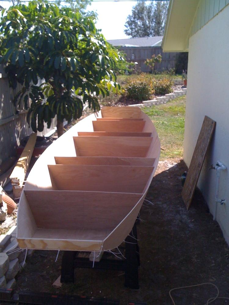 16' Ozark float boat being build (1/5)