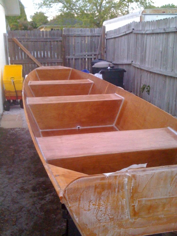 16' Ozark float boat being build (2/5)