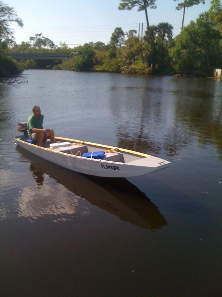 16' Ozark float boat being build (4/5)