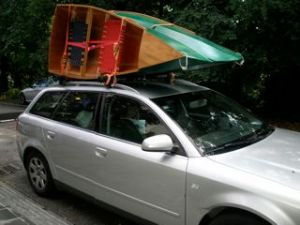 Picture of the 15' daytrip canoe