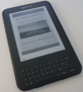 My kindle for boat building books