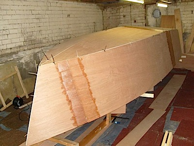 17' Motorboat being built