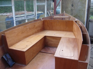 17' Picnic barge being built